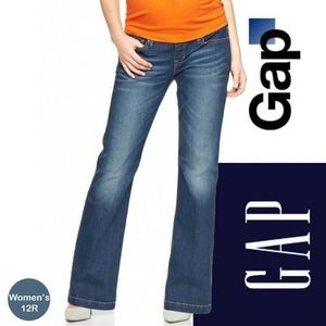 GAP Long & Lean Flare Jeans Medium Wash 12R